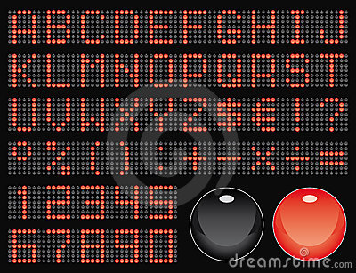 Fonte tipografica della matrice di punti