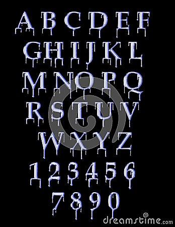 Fonte tipografica della sgocciolatura