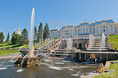 Fontes de Petergof, St Petersburg, Rússia