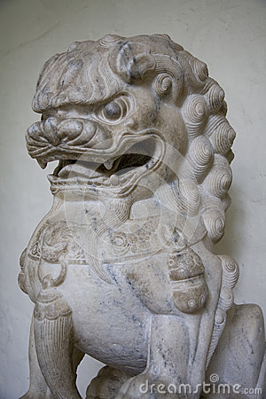 Foo Dog Temple Sculpture