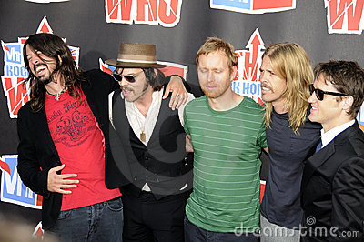 Foo Fighters on the red carpet. Editorial Stock Image