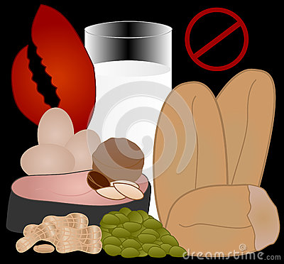 Free Food Allergies: The Top 8 Allergens Stock Image - 40790141