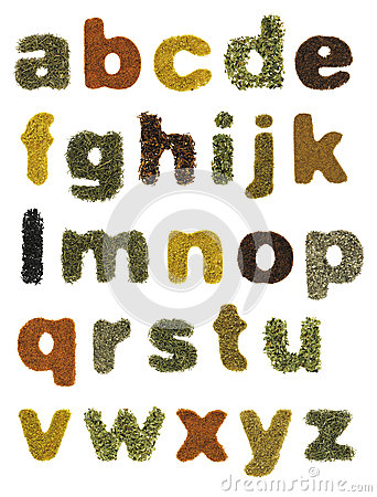 Free Food Alphabet Royalty Free Stock Image - 25826566