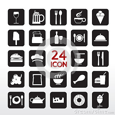 Free Food And Beverage Icon. Stock Image - 37081501