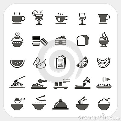 Free Food And Beverage Icons Set Stock Photos - 38213673