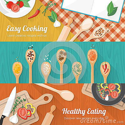 Free Food And Cooking Banner Royalty Free Stock Images - 51344299