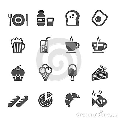 Free Food And Drink Icon Set, Vector Eps10 Stock Images - 54420964