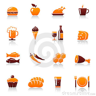 Free Food And Drink Icons Stock Images - 18187144