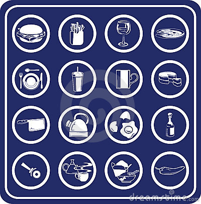 Free Food And Drink Icons Stock Photos - 895763