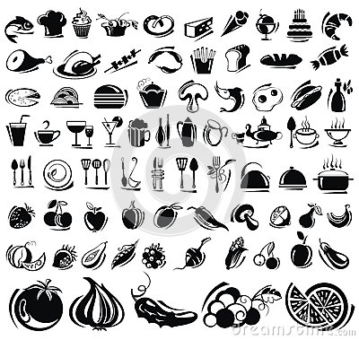 Free Food And Drink Icons Set Royalty Free Stock Image - 30573336
