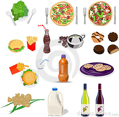 Free Food And Drink Set Collection Stock Photography - 7560682