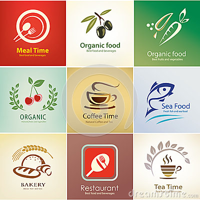Free Food And Drinks Icons Set, Background Templates Royalty Free Stock Image - 34524076