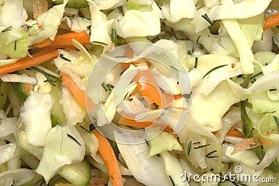 Food background: coleslaw