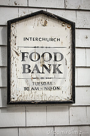 Free Food Bank Sign Royalty Free Stock Photography - 65029527