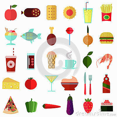Food And Beverage Icons Stock Illustration - Image: 44377466