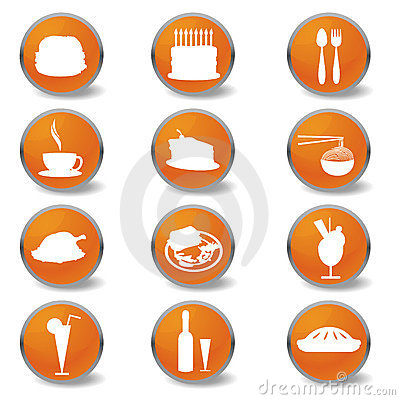 Food and beverages web icons