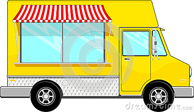 Food bus vector