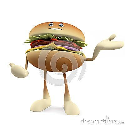 Food character - burger