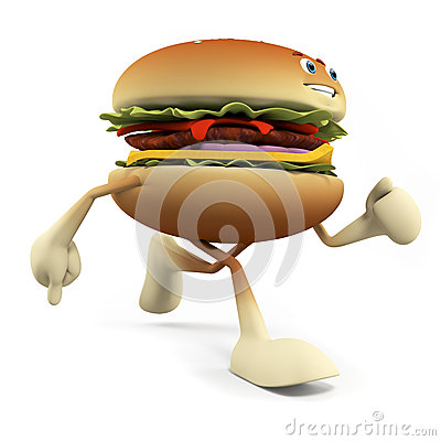 Food character - burger
