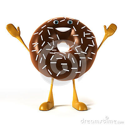 Food character - donut