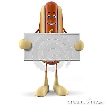 Food character - hot dog