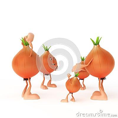 Food character - onion