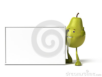 Food character - pear