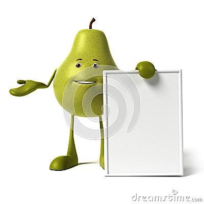 Food character - pear