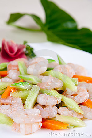 Food in china-- delicious shrimp