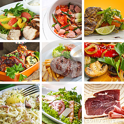 Free Food Collage Royalty Free Stock Photography - 25913317