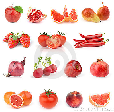 Free Food Collection. All Red. Stock Photo - 14643800