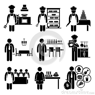 Free Food Culinary Jobs Occupations Careers Royalty Free Stock Image - 35246206