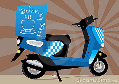 Food Delivery Motorbike_eps
