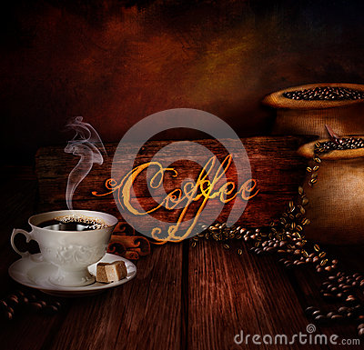 Free Food Design - Coffee Warehouse Stock Image - 28220851