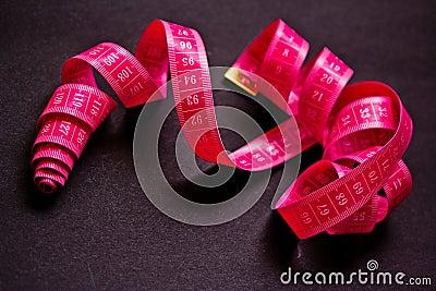 Food & diet, pink measuring tape