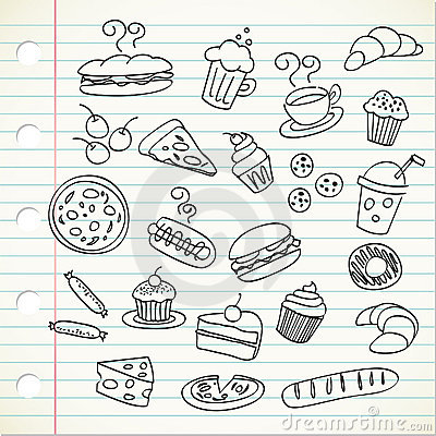 Free Food Doodle Stock Photography - 15451212
