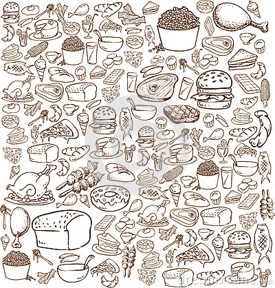 Free Food Doodle Stock Image - 43122571