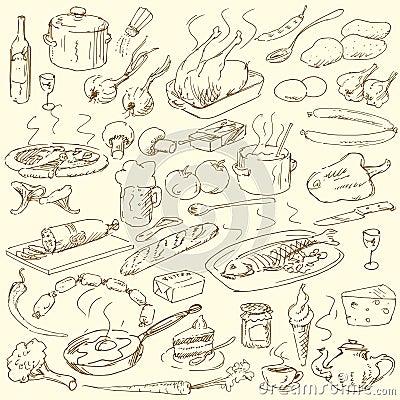 Free Food Doodles Stock Photos - 25329923