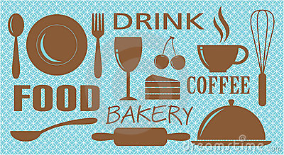 Food,drink,bakery and coffee design