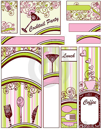 Food and Drink Banners Sizes