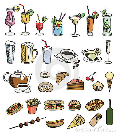 Food and drink color set