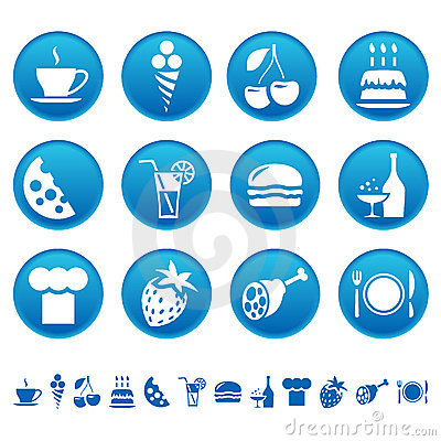 Free Food & Drink Icons Stock Photos - 7295913