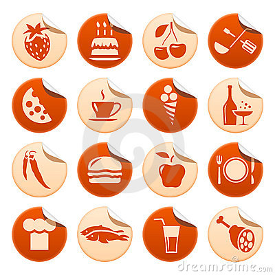 Free Food & Drink Stickers Royalty Free Stock Photography - 10676487