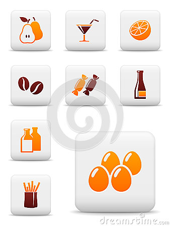 Food and drink vector icons