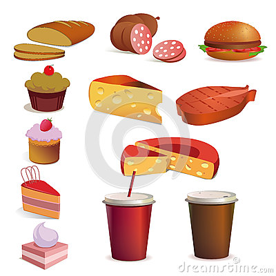 Food and drink, vector set