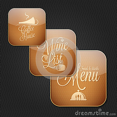 Food and drinks menu icon set