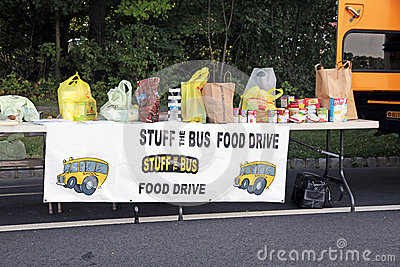 Food Drive Editorial Stock Image