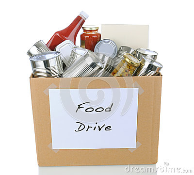 Free Food Drive Box Royalty Free Stock Photography - 27700307