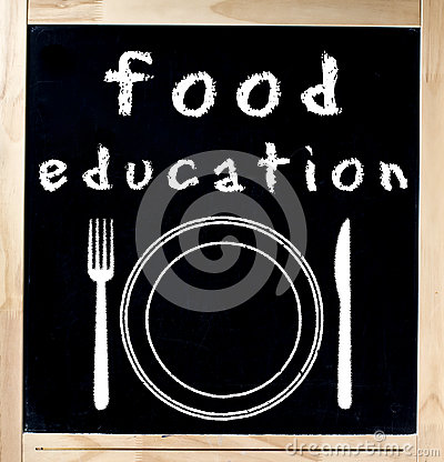 Free Food Education On Chalkboard Royalty Free Stock Image - 28586986