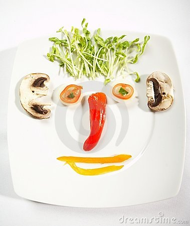 Food face concept